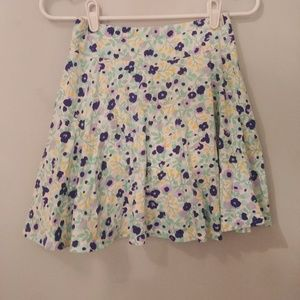 Lands' End Kids floral skirt size 10/12